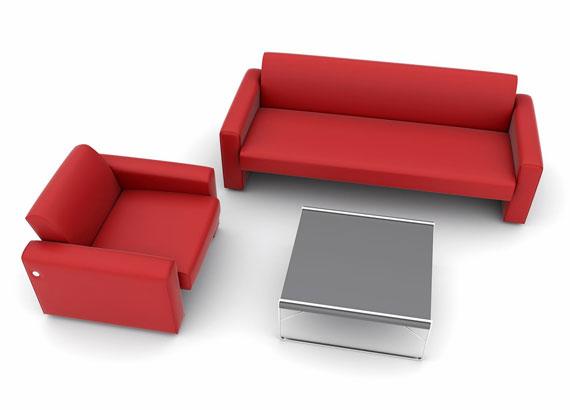 Décoration intérieure - Salon rouge